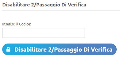 disabilita verifica
