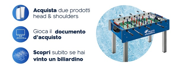 head & shoulders in palio biliardini