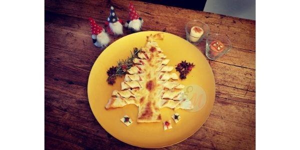 albero pasta sfoglia prosciutto e formaggio