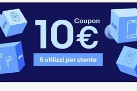 buono sconto di 10 euro su prodotti ebay