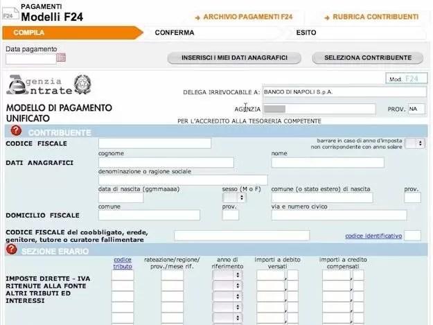 Pagare F24 Predeterminato Online Le Istruzioni Di Pagamento