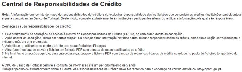 Central de Responsabilidades de Crédito