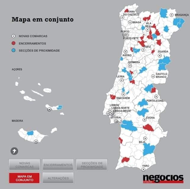 Mapa judiciário