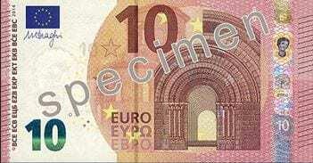 Nova Nota 10 Euros - 2014