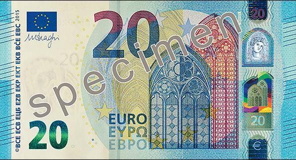 Nova nota 20 euros 2015