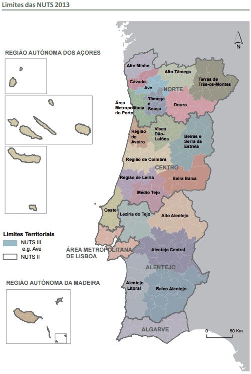NUTS III - 2015 - Portugal