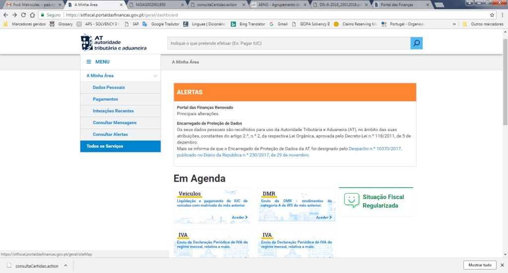Portal das Finanças Todos os Serviços