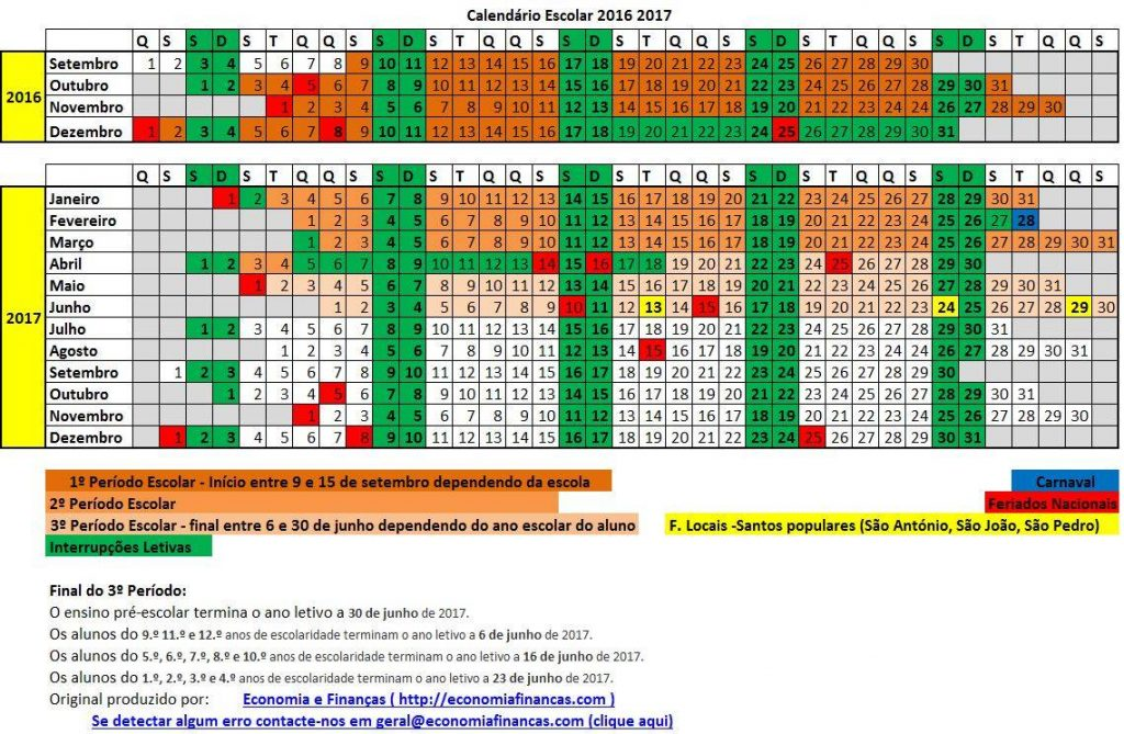 Calendário de provas de aferição e exames dos ensinos básico e secundário 2016 2017