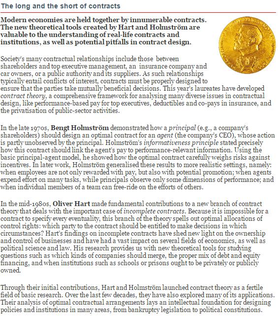 Nobel da Economia 2016