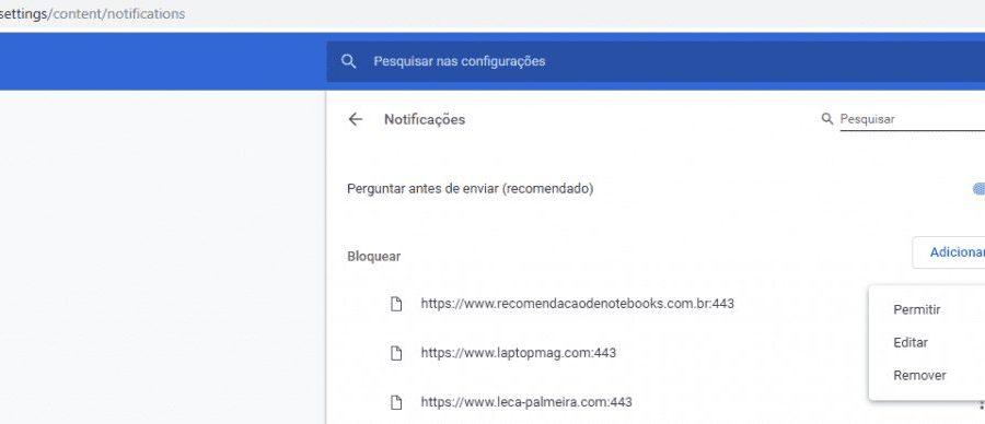 Anular Notificações Chrome