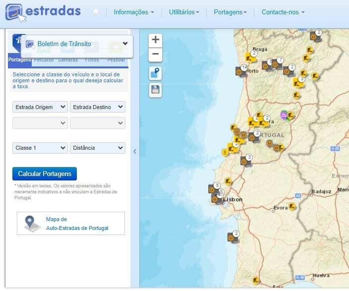 Simulador de Portagens - Portugal