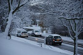 Motorists battle with hazardous winter conditions on the road