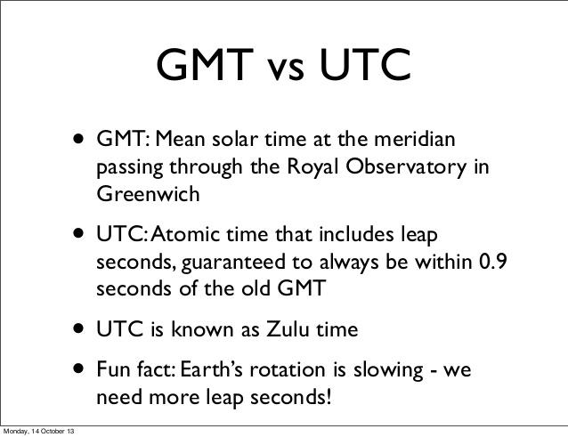 Difference Between Utc And Gmt