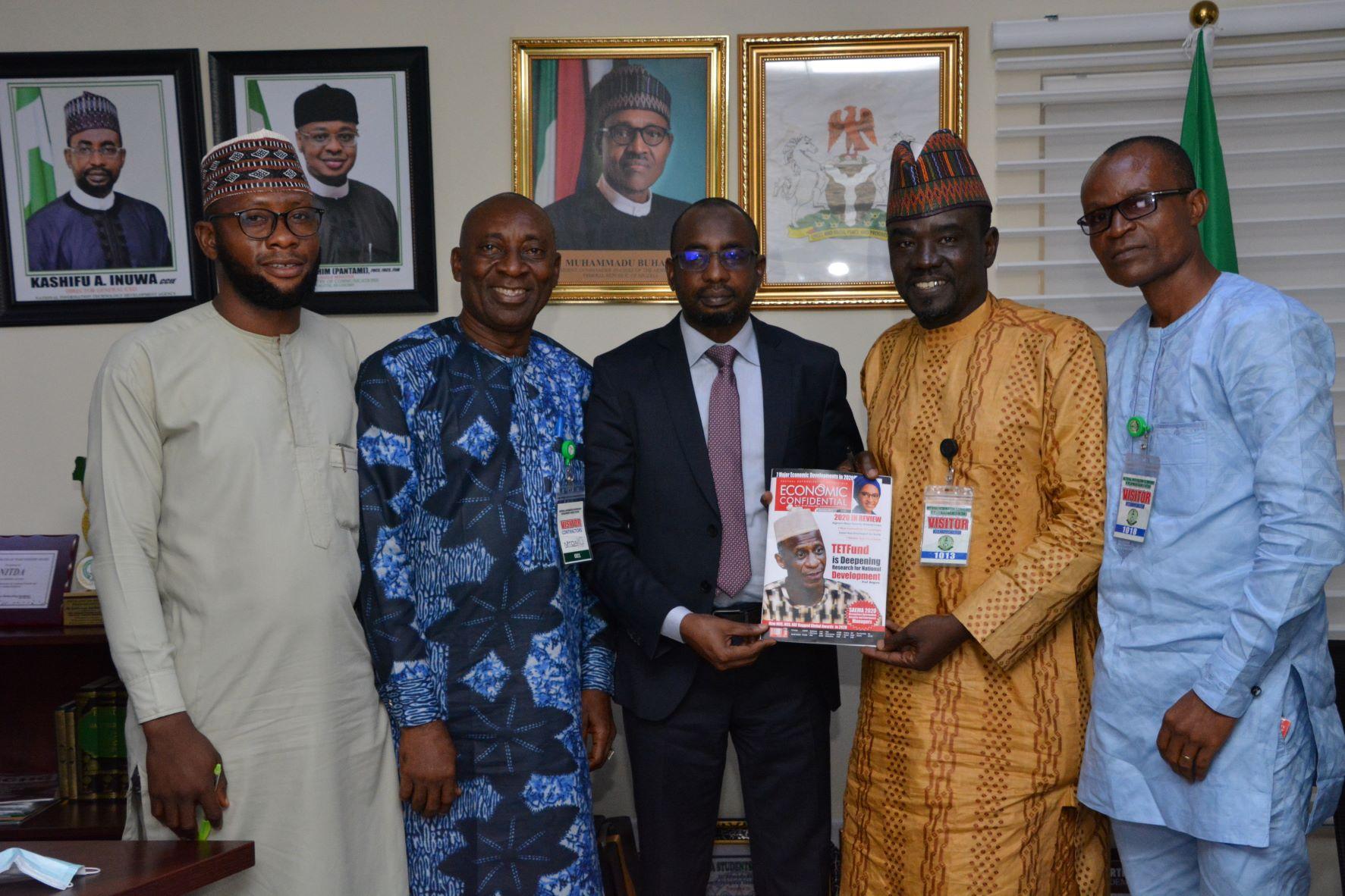 DG NITDA Kashifu Inuwa with Economic Confidential Editorial team