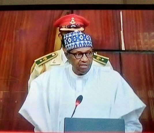 President Muhammadu Buhari Giving The 2022 Budget Speech