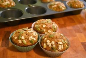 Muffins à la citrouille et à l'avoine dans un seul bol