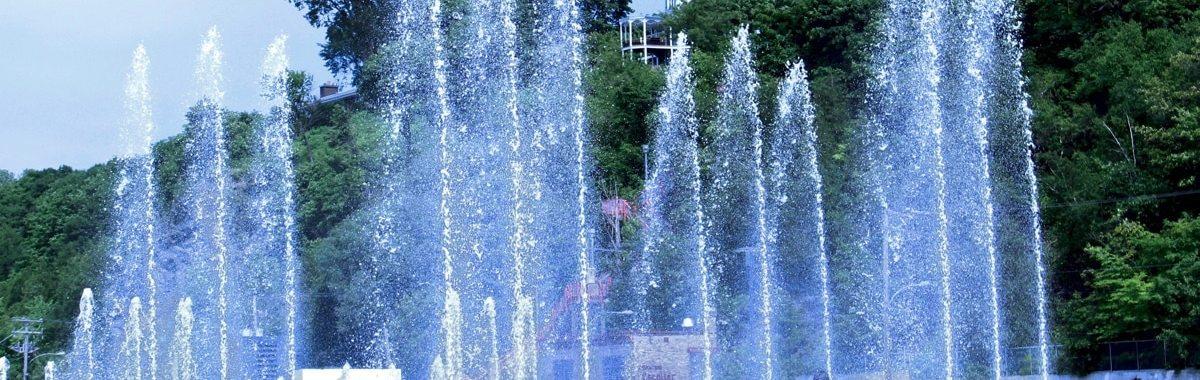 Lévis Quai Paquet jeux d'eau