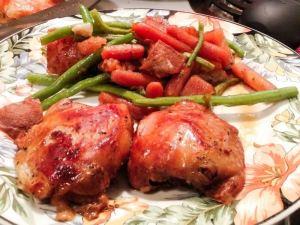 Repas de poulet à la mijoteuse