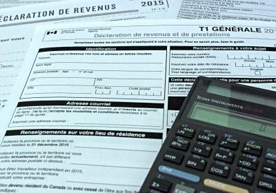 rapport d'impôt déclaration de revenus