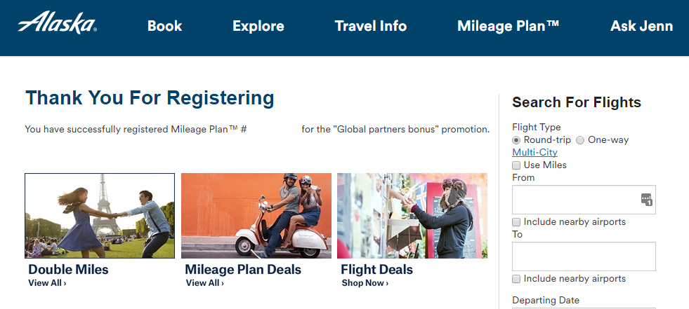 Earn up to 13,000 Alaska Miles when you fly internationally with Alaska global partner airlines this summer!