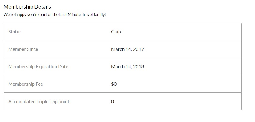Free 1 Year Membership at LastMinuteTravel.com