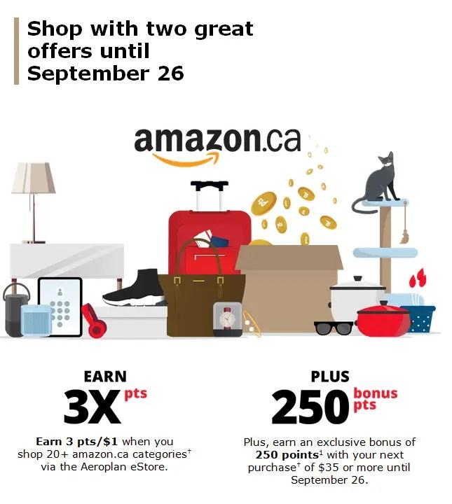 Amazon.ca: Earn 3x Aeroplan Points Plus Targeted Bonus!