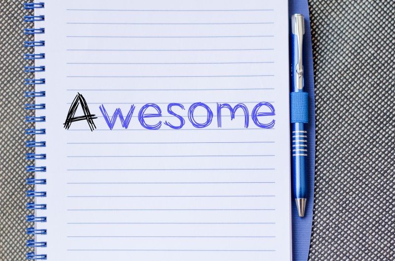 Awesome text concept write on notebook