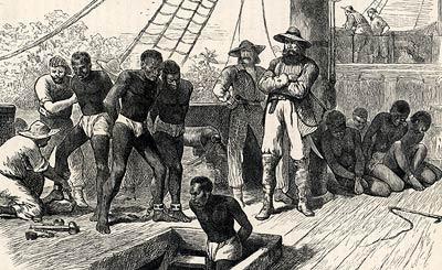 Slave ship deck