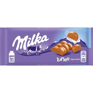 Milka Luflée Alpenmilch (Bubbly Alpine Milk) - 3.17oz Bar