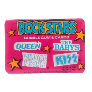 1979 Donruss Rock Stars Bubble Gum & Cards