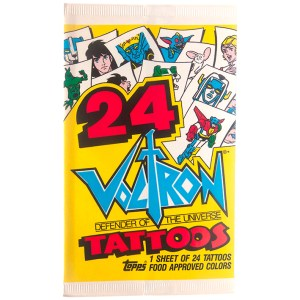 1984 Topps Voltron Defender of the Universe Tattoos