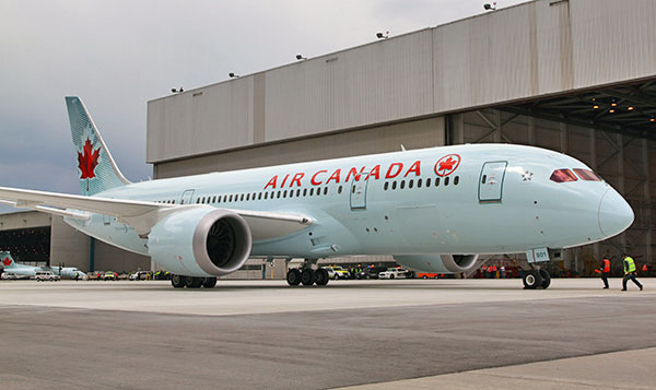 Air Canada Has Its First 787 Delivered Economy Class