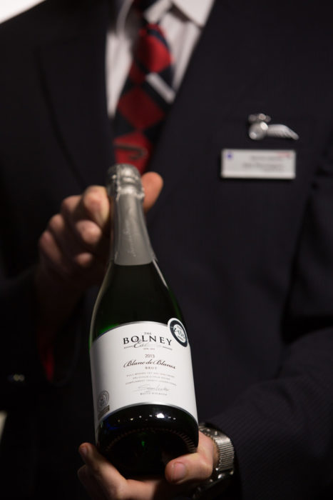 LONDON, UK: British Airways will be serving English Sparkling wine in First from February 1, 2017 (Photo by: Nick Morrish/British Airways)