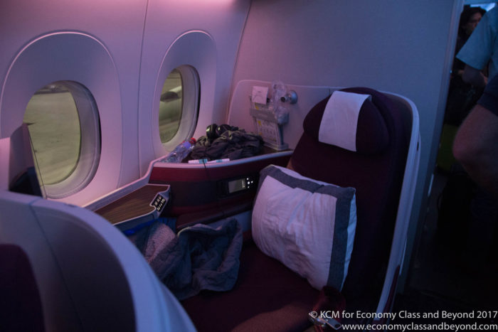 Qatar Airways QR947 SIngapore to Doha