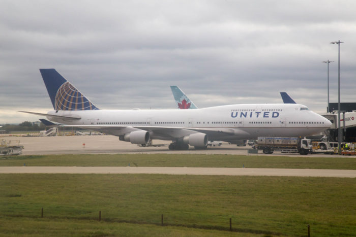 United Airlines Boeing 747-400 at London Heathrow - Image, Economy Class and Beyond