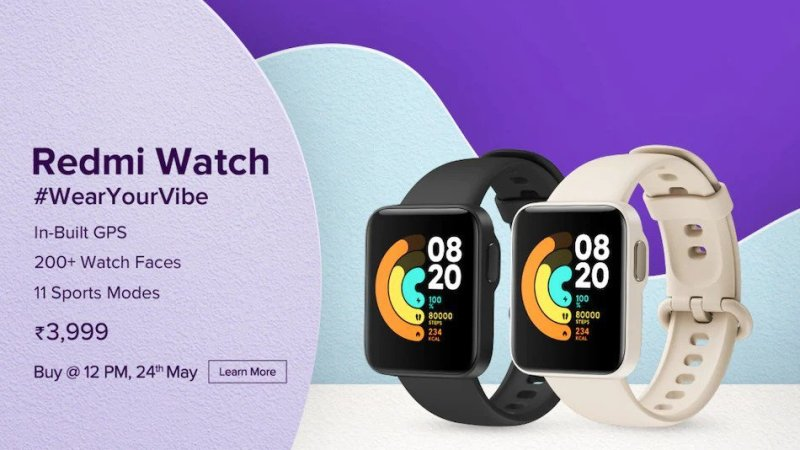 Redmi Watch Goes on Sale in India for First Time Today: Price, Specifications