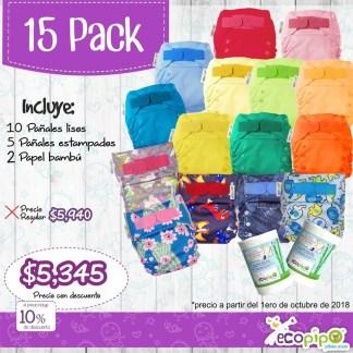 15 pack ecopipo