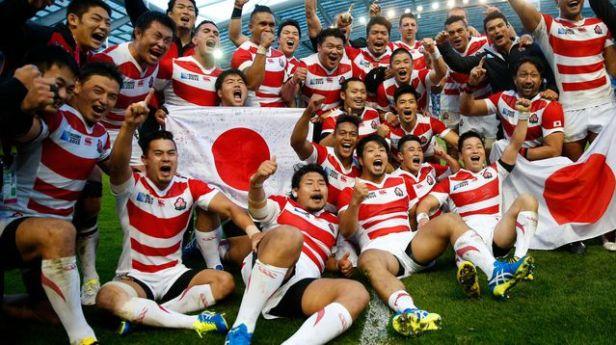 L'équipe de rugby du Japon victorieuse contre l'Afrique du Sud - Coupe du monde 2015 rugby