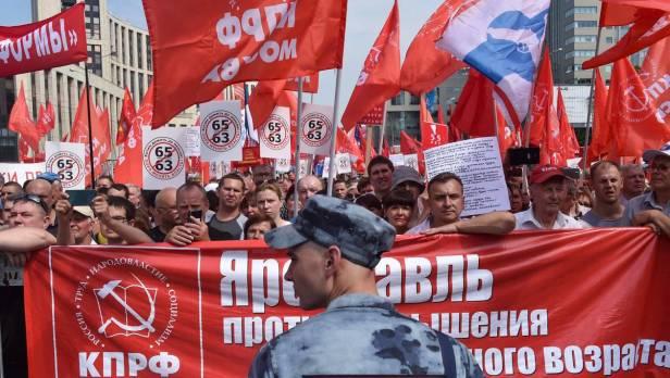 Démonstration de force en Russie contre les retraites, Poutine en danger