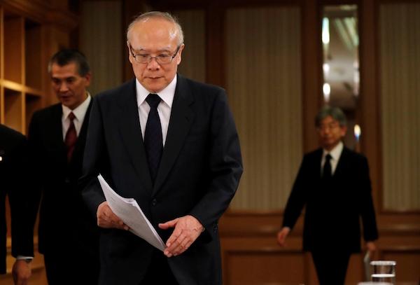 Tetsuo Yukioka, directeur général de l'université médicale de Tokyo