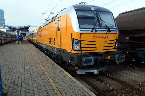 Le nouveau train de voyageurs est exploité par le transporteur privé RegioJet.