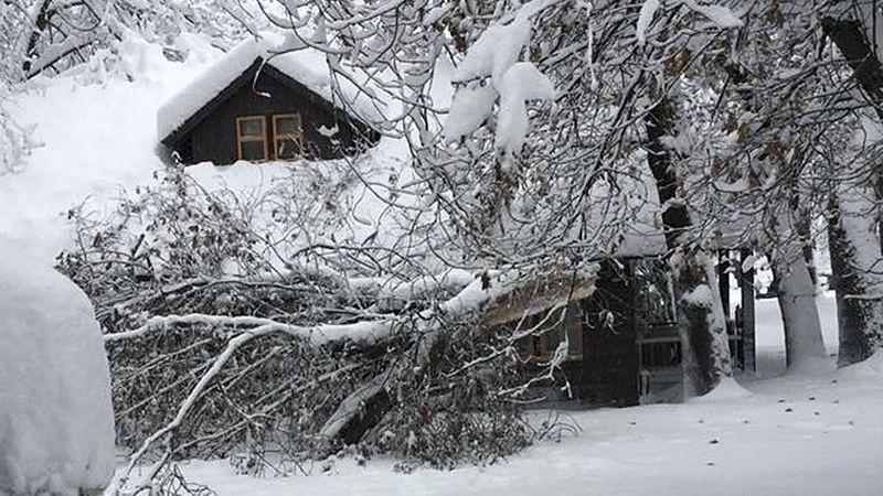Les tempêtes ont déversé de fortes pluies et de la neige dans le parc national de Yosemite, fermant toutes les routes, renversant des arbres et provoquant un éboulement. Les officiels du populaire parc Northern California ont exhorté les visiteurs à rester à l'intérieur mardi.