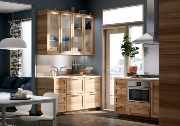 Cuisine-IKEA-bois-lumiere