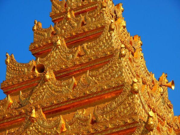 Mahamuni Buddha temple in Mandalay