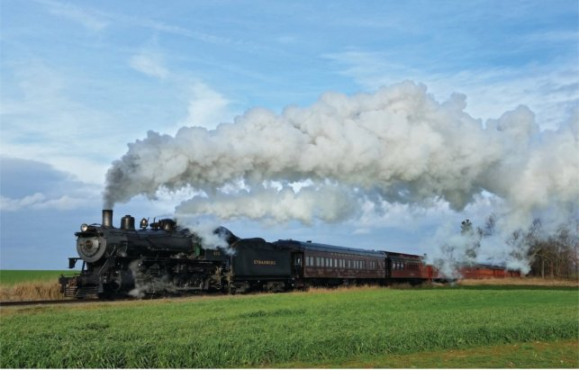 Image of the Train on the Strasburg Rail Road