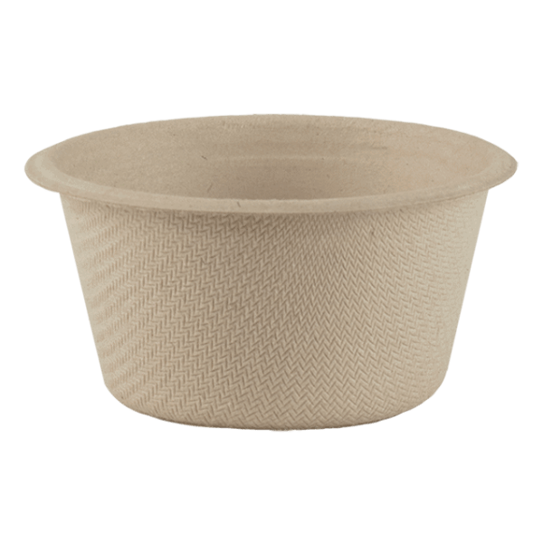 Paper portion cups and lids