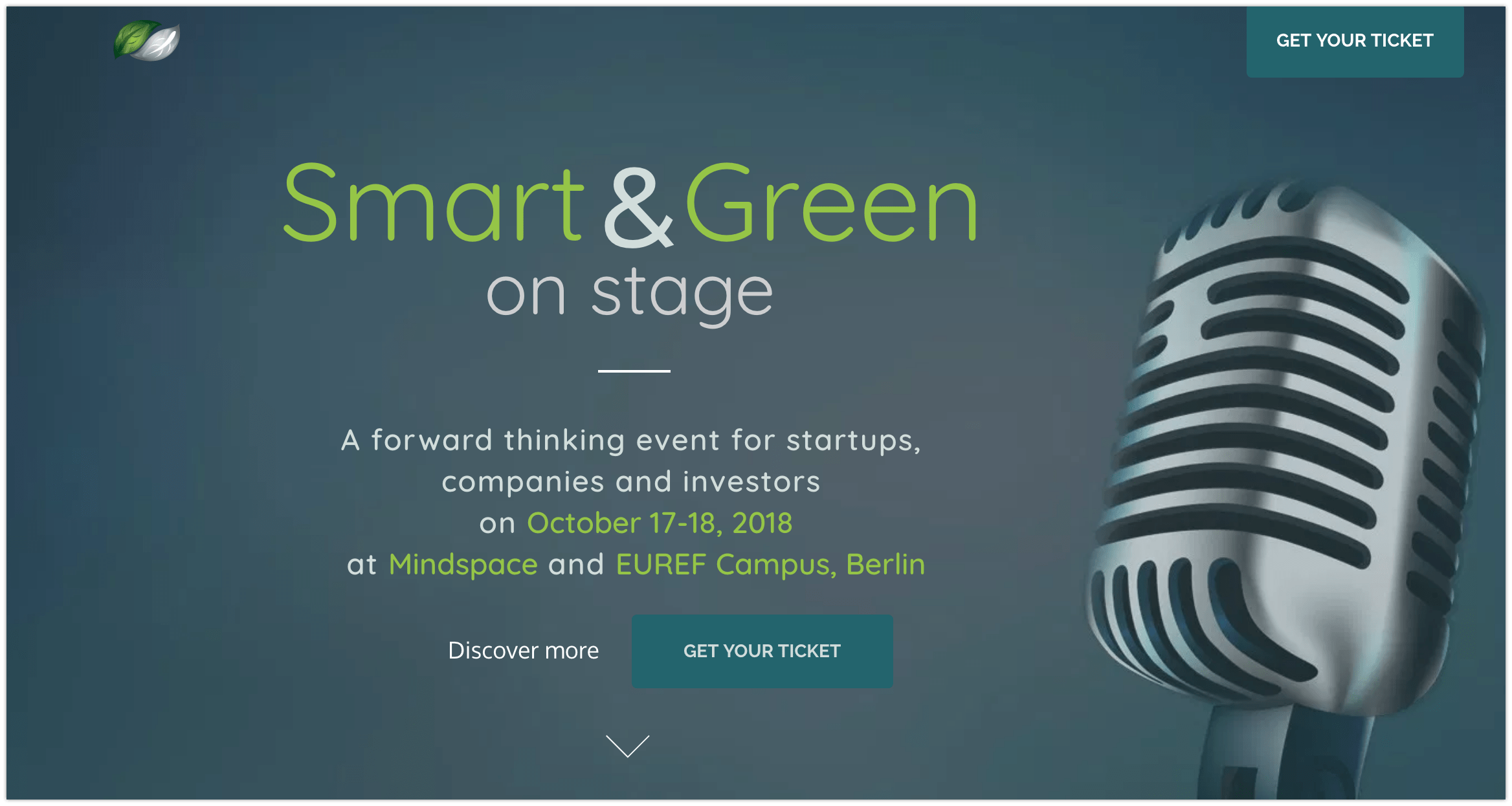 SMART & GREEN ON STAGE- October 18th, 2018, At The EUREF Campus Berlin – Ecopreneur.eu Partner