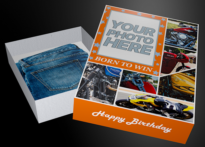 BORN TO WIN MOTORCYCLE BIRTHDAY