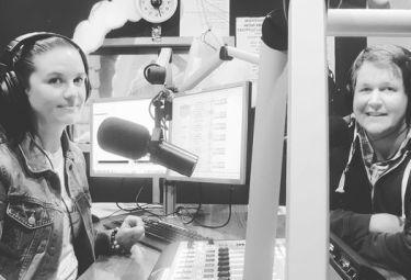Kira and Dave in Studio 1 at 4zzzfm