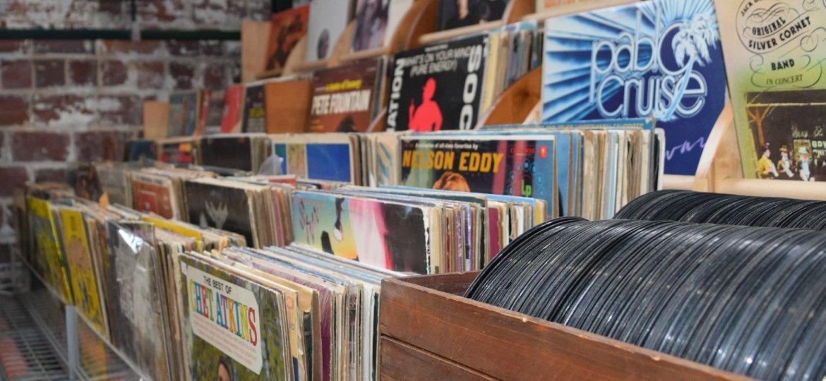 Massive record collection at Eco Relics